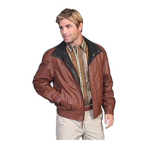 [スカーリー] メンズ ジャケット&ブルゾン Featherlite Leather Jacket w/Double Col [並行輸入品] B07DJ152ZR XXXXX-Large