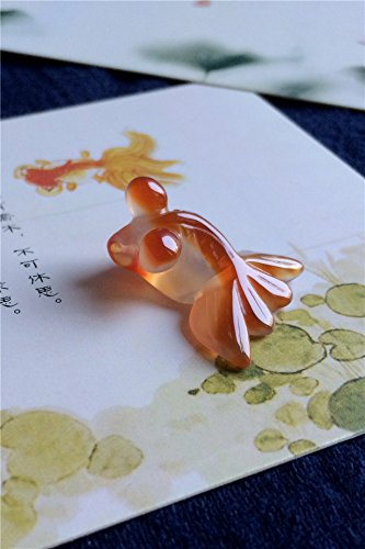Picking jiangnan Natural red Agate qiao Color Agate Goldfish Little Goldfish Jade Necklace Pendant Playful Goldfish