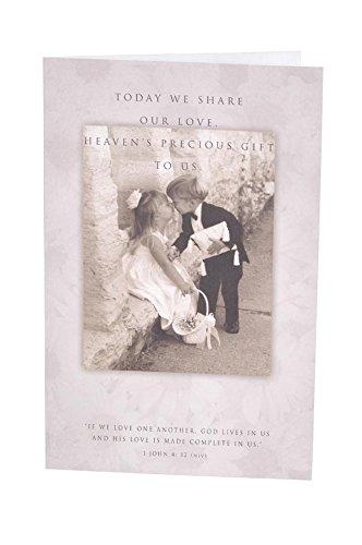 Darice VL6286, Double Heart Wedding Program, Black
