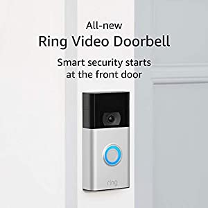 All-new Ring Video Doorbell – Ring's #1 selling video doorbell – Satin Nickel – 2020 release