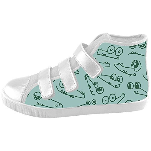 Daniel Turnai Fan Custom Kid's Shoes Small Cartoon Animal New Velcro High Top Canvas