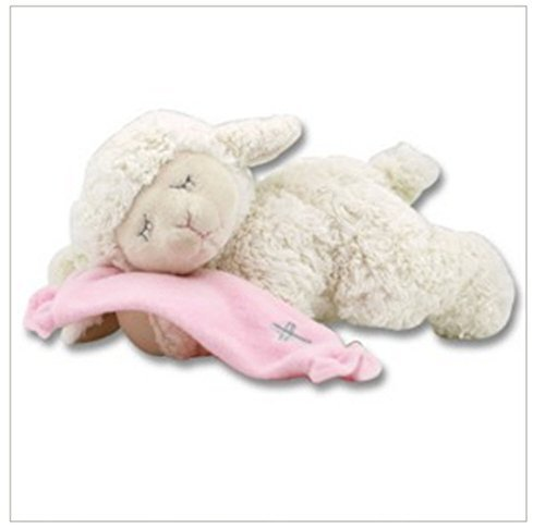 Pink Praying Lamb Plush - Bear Valley Mall