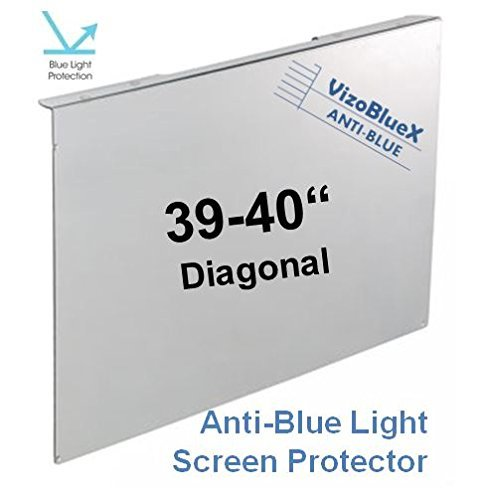 - 39-40 inch VizoBlueX Anti-Blue Light TV Screen Protector&Damage Protection Panel (36.2 x 21.7 inch)-Filter Blocking UV&Blue Light from 380 to 495 nm.Fits LCD,LED,4K OLED&QLED HDTV,Monitors&Displays