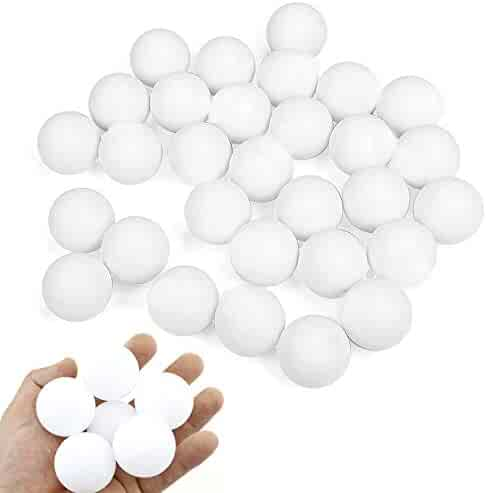 Totem World 24 White Beer Pong Balls - 38mm Ping Pong Washable Plastic for Decoration, Crafts or Party Game Balls