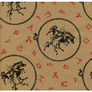 Acorn Spring Ranch Bucking Horse Western Gift Wrapping Paper -24