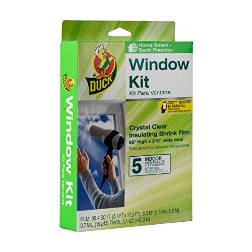 Duck Brand Indoor 5-Window Shrink Film Insulator Kit