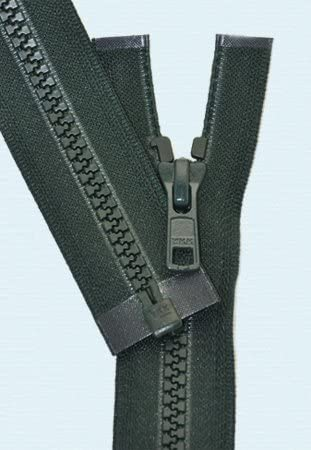 26\ Vislon Zipper ~ YKK #5 Molded Plastic Sport Zipper ~ Separating 890 Dark Green Hemlock 1 Zipper// Pack