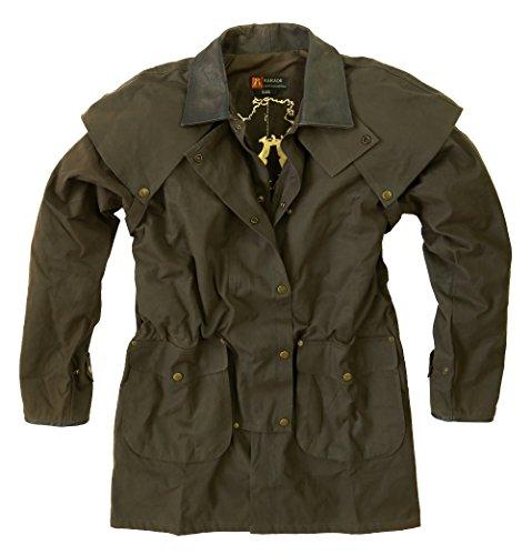- Kakadu Mens Oil Cloth Oilskin Western Australian Waterproof Duster Jacket Heavy Duty Warm Brown