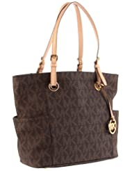 Michael Kors Signature Tote,Brown,One Size