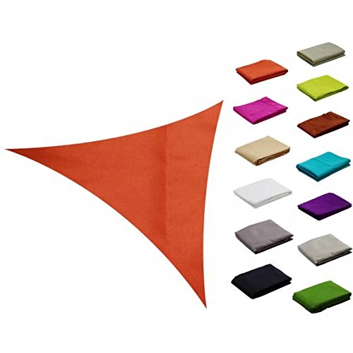 e.share 12ft12ft12ft Orange Sun Shade Sail Outdoor Canopy with Panel