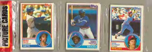1983 Topps Baseball Card Rack Pack - 51 Cards - Possible Ryne Sandberg, Wade Boggs, Tony Gwynn Rookie Cards