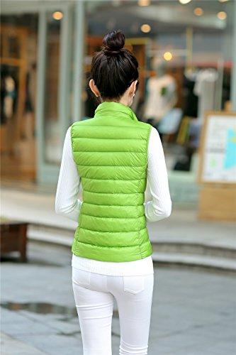 Gilet sans Doudoune Montant Femme Manches Vert Jacket Quibine Col Sq5w4aEx