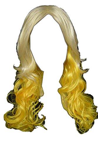 (Lady Blonde Curl Fashion Wig