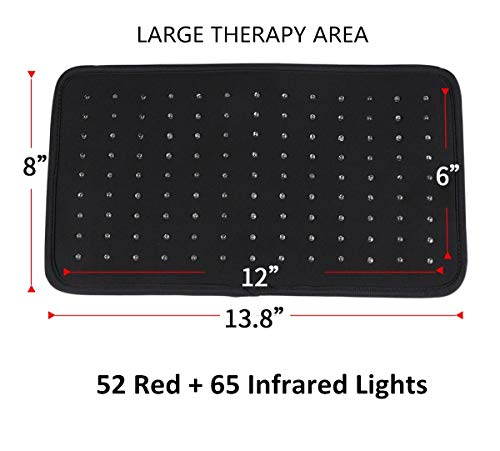 Near Infrared Red Light Led Therapy Wrap Back Pain Relief Light Therapy Pads Large Infrared Heating Pads for Pain