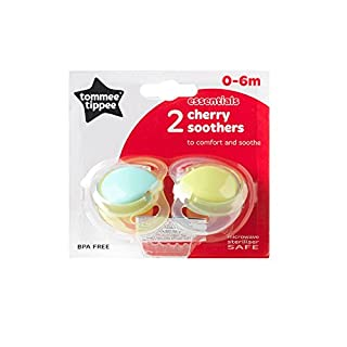 Cherry 0 - 6 Months Tommee Tippee Soothers 2 Pack