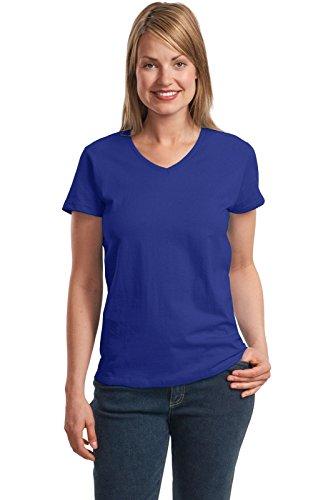 Hanes Ladies 5.2 oz. ComfortSoft V-Neck Cotton T-Shirt