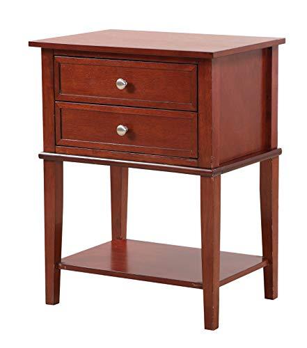 Glory Furniture Newton G059-N, Cherry Nightstand, Side Table 28