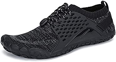 Tindecokin Mens Womens Trail Running Shoes Hiking Shoes Wide Toe Box Quick Drying Barefoot