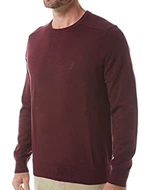 Mens Solid Crew Neck Sweater