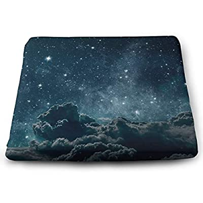 Sanghing Customized Backgrounds Night Sky with Stars and Moon and Clouds 1.18 X 15 X 13.7 in Cushion, Suitable for Home Office Dining Chair Cushion, Indoor and Outdoor Cushion.: Home & Kitchen