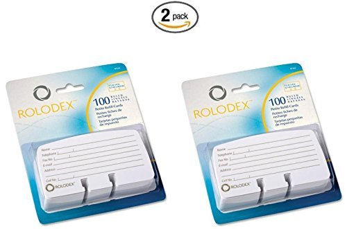 Rolodex Corporation Products - Card Refills, For Petite Card Files, 2-1/4x4, White - (2-Pack of 100) PackageQuantity: 2, Model: ROL67553, Office Shop