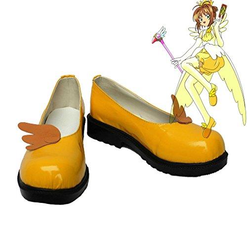 Sakura Kinomoto Cosplay Schoenen Laarzen Op Maat Gemaakt Oranje