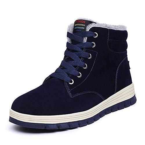 Boots Scarpe Stivali Impermeabile Sneaker da Invernali Scarpe Stivali 48 Outdoor All'aperto Stivaletti 39 Piatto Pelliccia Sportive Stivali Classici Scarpe Caldo EU Blu Uomo Neve ZAqwqxz7