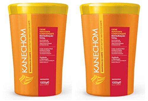 Kanechom Hair Treatment Shea Butter 35.2oz   Creme de Tratamento com Manteiga de Karite 1kg (Pack of ()