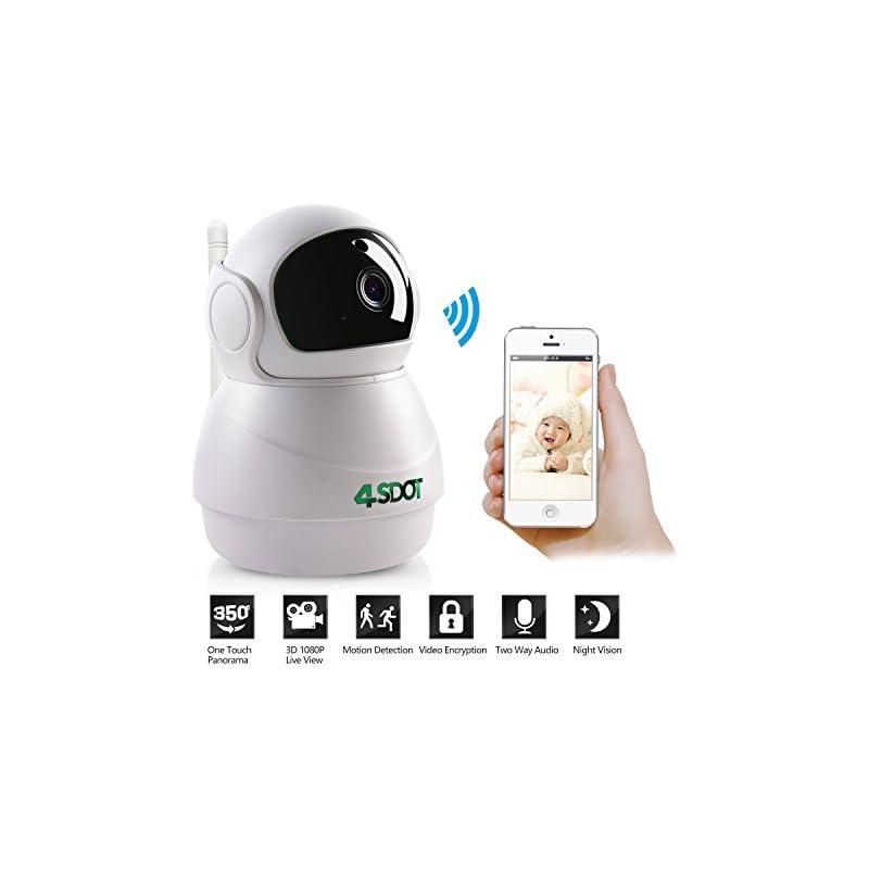 Wireless IP Camera 1080P,Nanny Cam,360 D