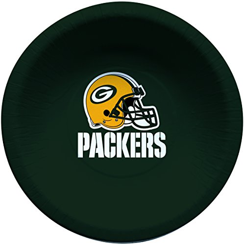Creative Converting Officially Licensed NFL Paper Bowls, 8-Count, 20-Ounce, Green Bay Packers