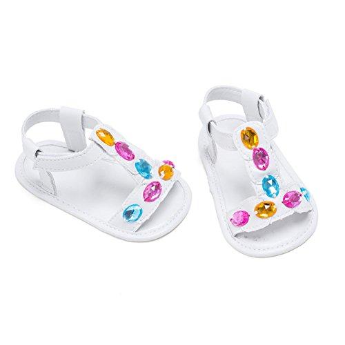 Sandalias De Bebe,BOBORA Prewalker Zapatos Primeros Pasos Para Bebe Color Diamond Baby Walker Sandalias blanco