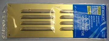 M150 Marley Gold brass anodised Aluminium Louvered Gas Air Vent grill 9x3