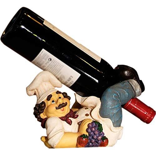 Wine Rack Chef Grape Wine Vineyard Dinner Napkin Holder Figurine Tabletop Kitchen Accessories