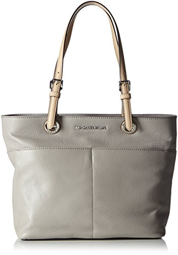 Michael Kors Bedford Leather Top Zip Tote Handbag Pearl Grey ()
