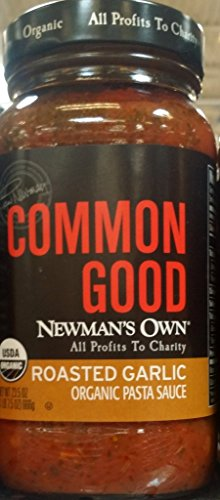 Newman's Own Common Good Roasted Garlic Organic Pasta Sauce 23.5 Oz (Pack of 2) ()