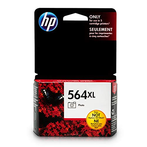 HP 564XL Photo Ink Cartridge (CB322WN) for HP Photosmart B8550 D5445 D5460 D7560 7510 7515 7520 7525 C6340 C6350 C6380 C510a C309g C310a HP Photosmart Premium Fax e-All-in-One Printer C410a ()