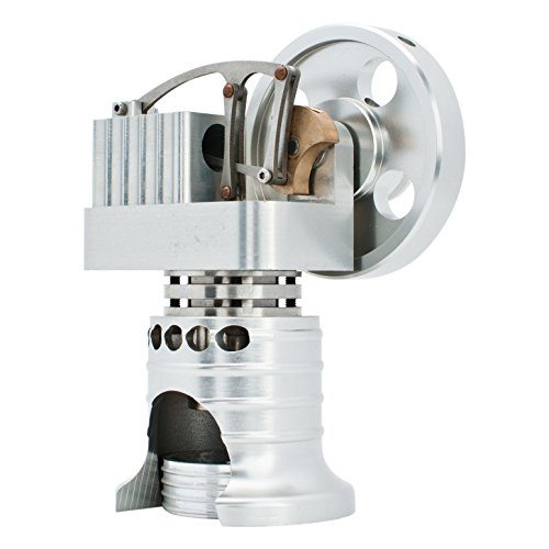 DjuiinoStar Hot Air Stirling Engine, All Metal Construction, Ready To Run DHA-L-106