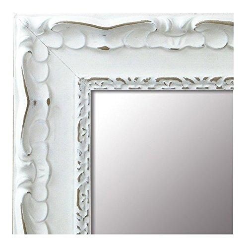 Espejo de Madera Fabricado en Espana - Espejo Vestidor, Salon, Bano, Entraditas (201 Blanco, 54x149 cm)