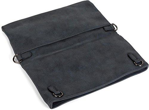 1 look zip Blue suede styleBREAKER clutch shoulder shoulder over ladies in Dark bag fold color strap Blue 02012190 strap with Midnight Black in bag 3 xnvvCqF