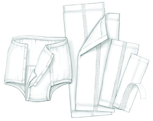 Handicare Garment Liner Moderate Absorbency/7 x 17 in./Case of 200 by Kendall