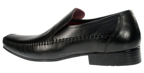 Red Tape Whittle Chaussures en cuir Homme - Noir - noir, 41.5 (8 UK)
