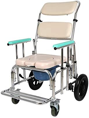 MMPY Multi-USE Dusche mit, Mobil WC Chairheight Adjustable Rollstuhl Dusche Transport Stuhl/Bad Bad Hocker
