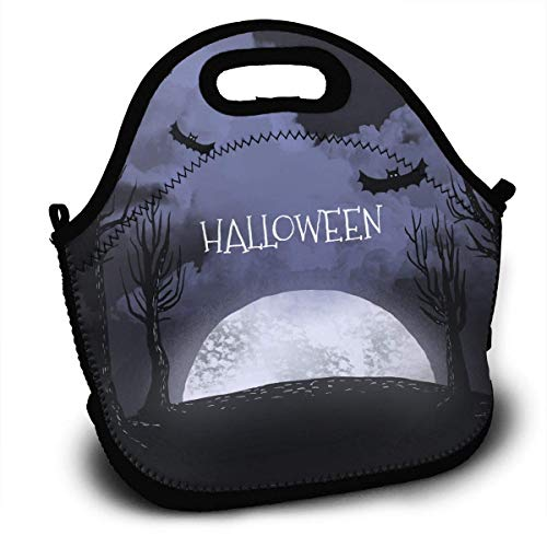 HGDGF Variety Daily Halloween Portable Love Lunch ContainerReturn Picnic Lunch Box Handbag for Women Men And Adults£¬ Printing Wear Resistance for $<!--$14.05-->