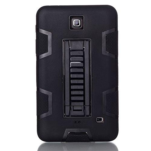 MagicSky Galaxy Tab 4 7.0 Case, 3in1 Heavy Duty Hybrid Shockproof Armor Kickstand Case for Samsung Galaxy Tab 4 7.0 T230 /T231/ T235 Galaxy Tab 4 Nook Cover - Black/Black