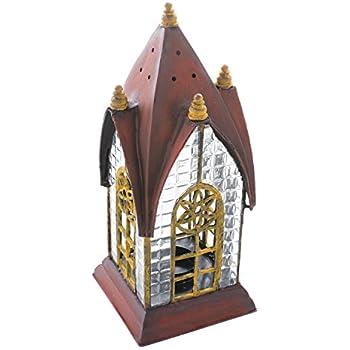 Decorative Table Candle Lantern - Pembroke Red Historic English Architectural Lantern