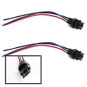 amazon com ijdmtoy 2 3156 3157 male adapter wiring harness for ijdmtoy 2 3156 3157 male adapter wiring harness for car motorcycle headlight tail lamp turn signal lights retrofit