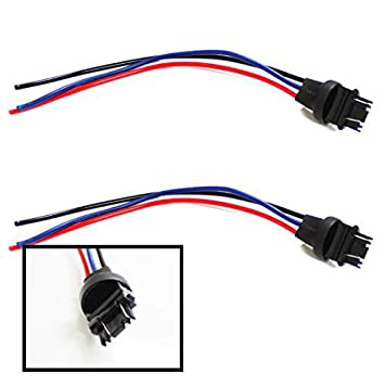 41RbLLcpPZL._SY355_ amazon com ijdmtoy (2) 3156 3157 male adapter wiring harness for turn signal wire harness at crackthecode.co