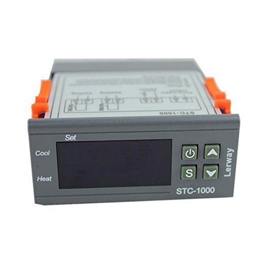Lerway 110V All-Purpose Temperature Controller+ Sensor 2 Relay Output Thermostat Stc-1000
