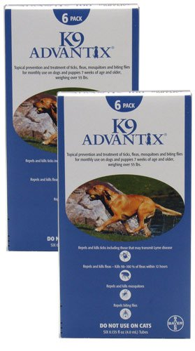 K9 Advantix for Dogs - Over 55 lbs - 12 month supply