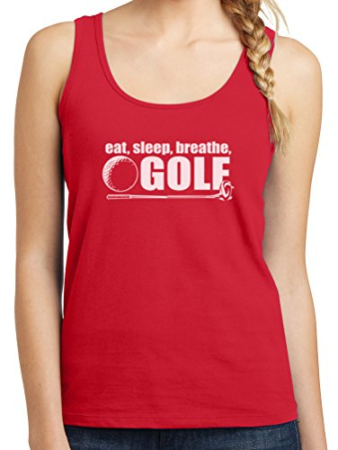 Womens I Breathe Golf Graphic Tank Top, 4X, Red
